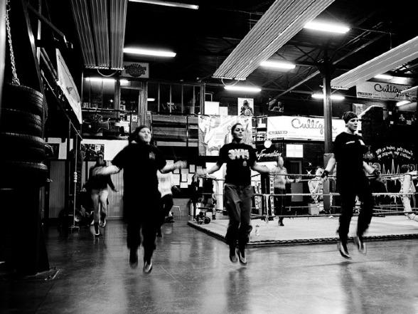 Boxing Beats, Aubervilliers Entraînement - Novembre 2011 ©Yann Renoult